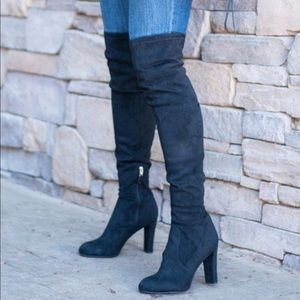 Sam Edelman Black Over the Knee Boots Sz 10.5